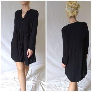 NWT Black smock dress